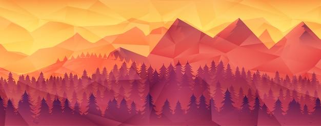 森林の荒野の風景。