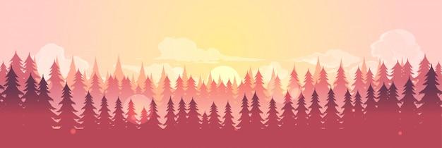 コーラルトーンの森林景観