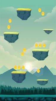 ジャンプゲームの背景