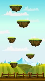 垂直ゲームの背景