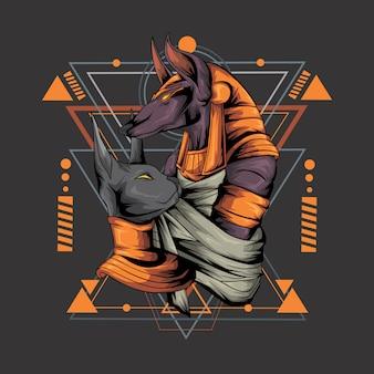 アヌビスの幾何学的なスタイル