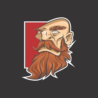 ひげ男のロゴ