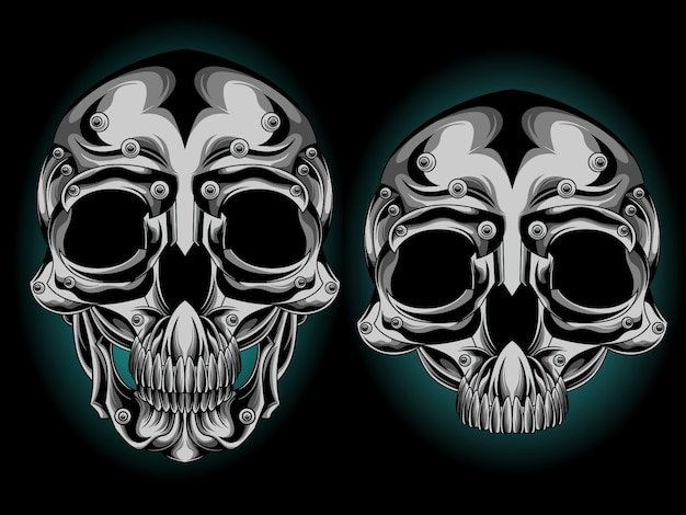 Серебряная голова черепа