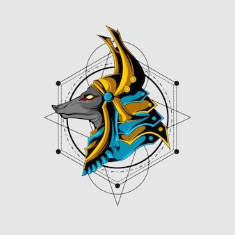偉大なアヌビスの神聖な幾何学