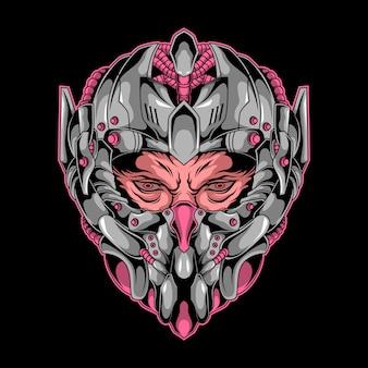 Голова робота человек