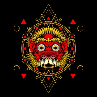 Маска демона со сакральной геометрией