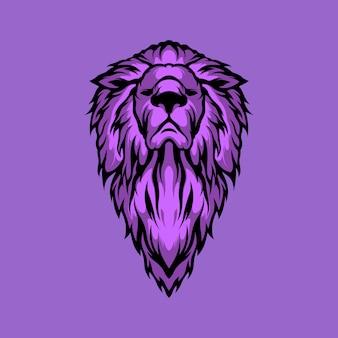 紫のライオンの図