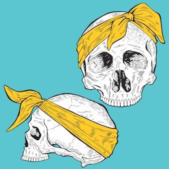 バンダナの頭蓋骨