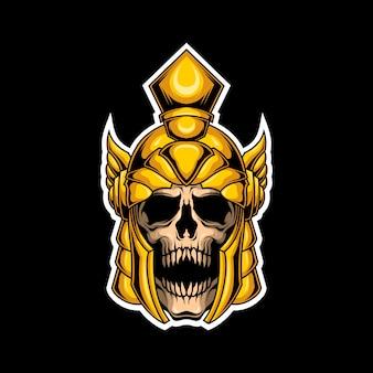 剣闘士の頭蓋骨のロゴ