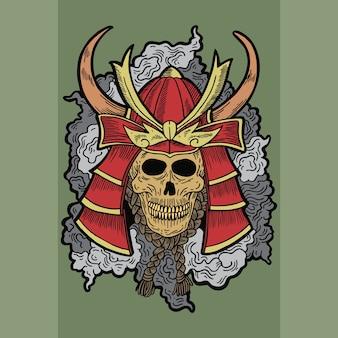 侍の頭蓋骨