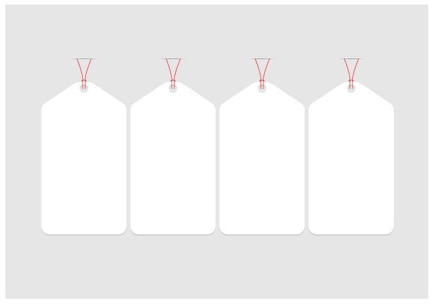 ホワイトペーパータグベクトルデザイン