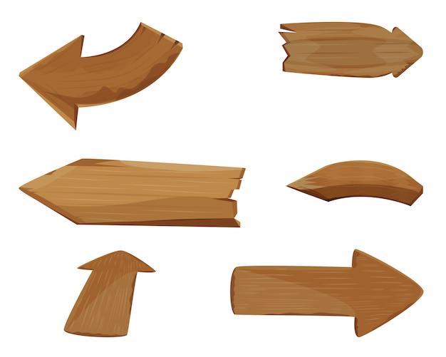 木製の矢印サインデザイン