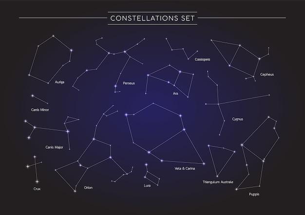 コスモス背景の星座