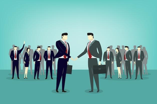 Два рукопожатия для деловых людей, чтобы договориться