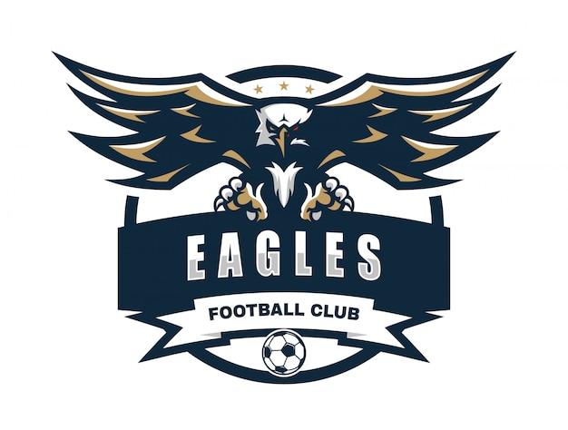 イーグルフットボールクラブのベクトルのロゴのテンプレート