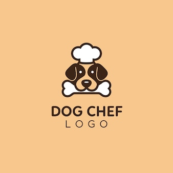 かわいい、シンプルなドッグフードアドバイザーのシェフのロゴ
