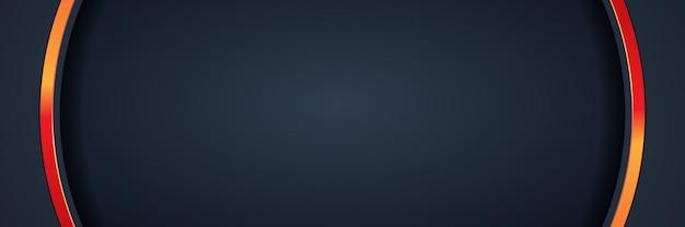 キラキラ背景光と抽象的なバナーゴールド