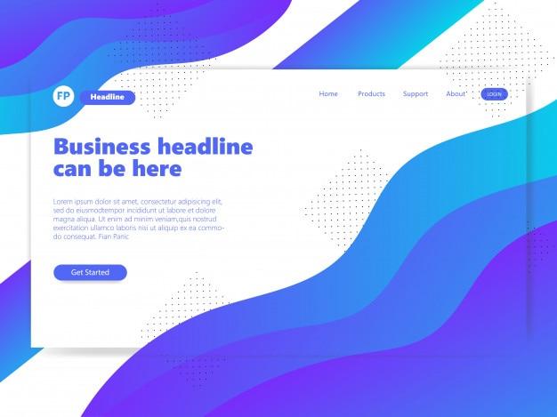 素晴らしい青色ウェブサイトのリンク先ページのグラデーション