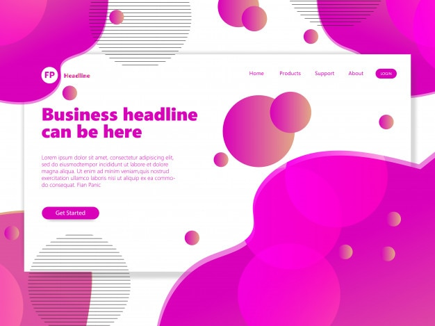 ランディングページテンプレート紫色のグラデーションカラー