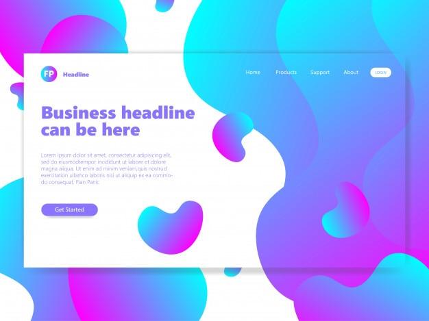抽象的な青とピンクの流体デザインの背景のリンク先ページ