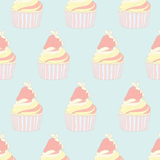パステルカップケーキのパターン