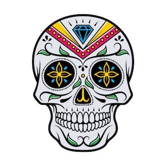 Иллюстрация черепа день смерти