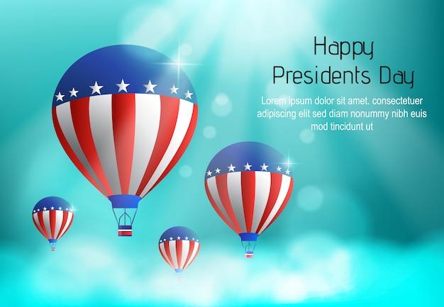 Счастливый день президентов фон вектор