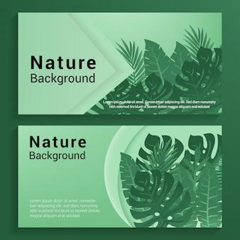 Фон баннера природы
