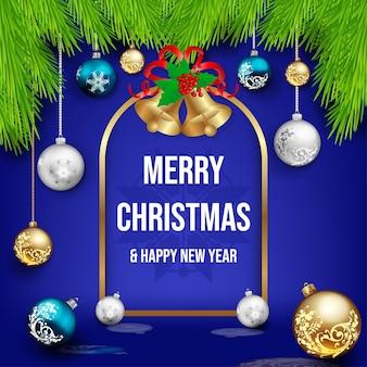 美しい飾りとクリスマスの装飾