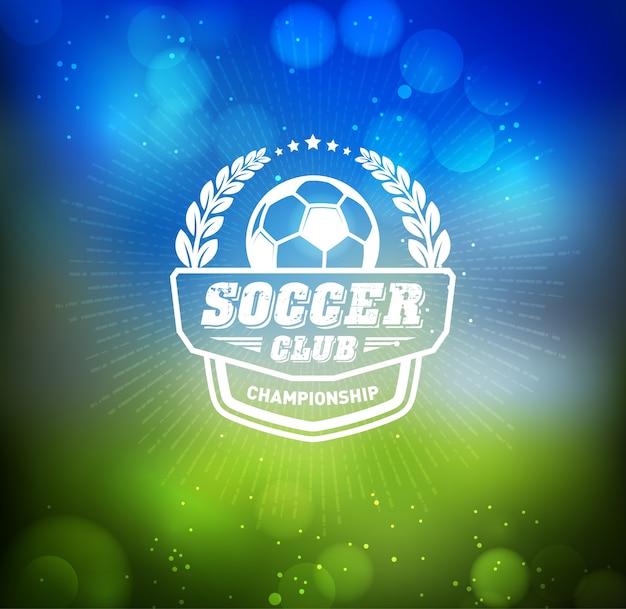 サッカーフットボールバッジロゴデザインテンプレート