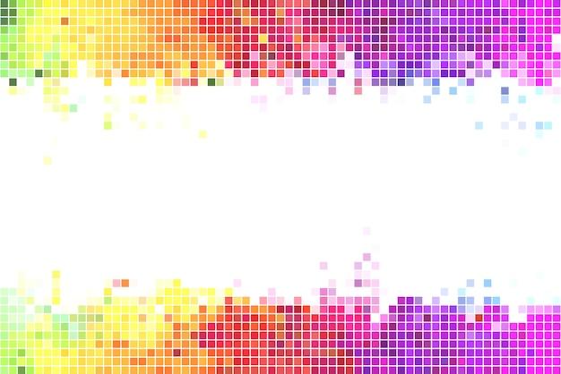 Иллюстрация красочных пикселей фона