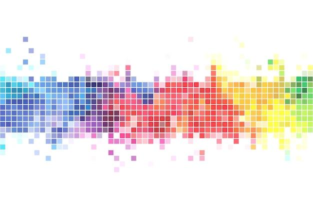 カラフルなピクセルの背景画像