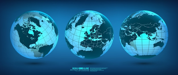 地球大陸と大陸