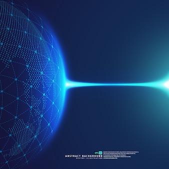 地球の地球の地球惑星青い線