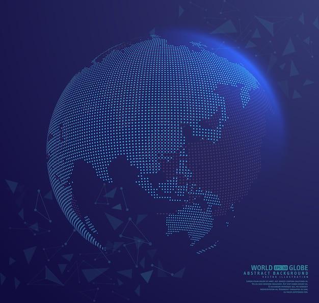 地球をつなぐ抽象的な地球