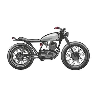 カスタムバイクフラットベクターデザインとロゴ