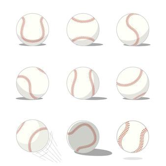 Набор бейсбольных мячей