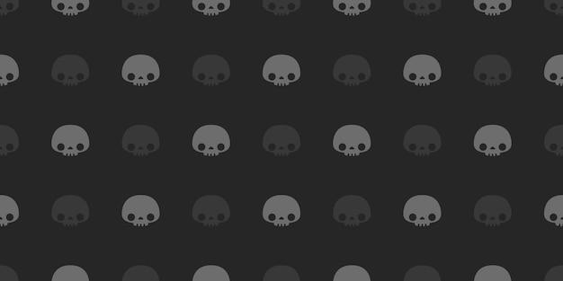 ハロウィーンの頭蓋骨のシームレスなパターン。