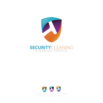 Логотип клининговой службы