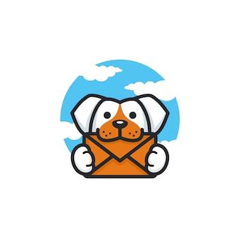 犬のロゴのテンプレート