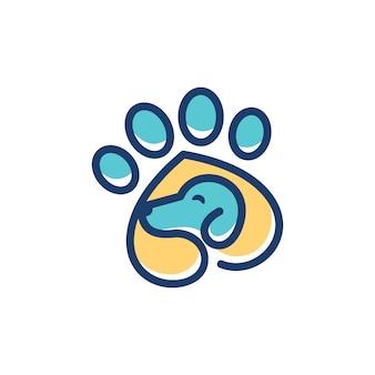 Шаблон логотипа собаки ветеринарный
