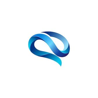 Творческий мозг логотип векторного