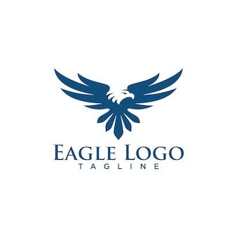 Творческий орел логотип фондовой вектор