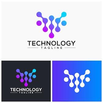 技術ロゴのテンプレートベクトル