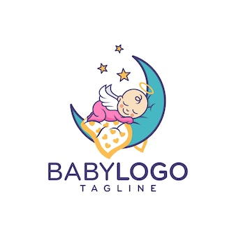 かわいい赤ちゃんのロゴデザインベクトル