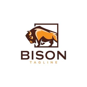 Шаблоны логотипов бизонов
