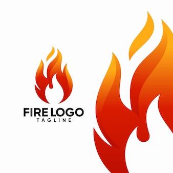 火のロゴのテンプレート