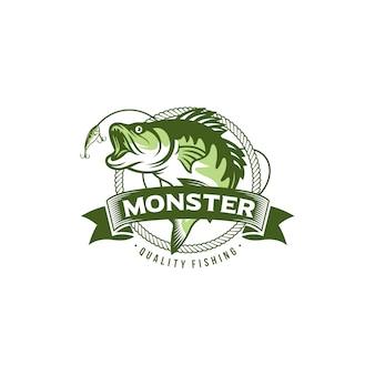 Старинное изображение логотипа рыбалки