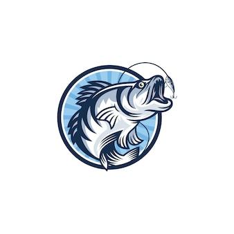 ビンテージ釣りロゴ画像