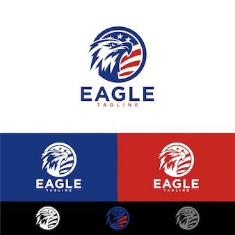 イーグルのロゴのテンプレート